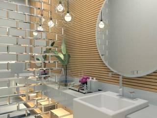LAVABO Letícia Saldanha Arquitetura Banheiros modernos