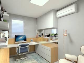Home Office Letícia Saldanha Arquitetura Escritórios modernos
