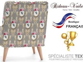 Tissu ameublement Toile de Jouy style Empire Rococo Baroque tapisserie:  de style  par Rideau-voile, Classique