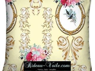 Housse de coussin motif Toile de Jouy tissu imprimé ameublement décoration :  de style  par Rideau-voile, Classique