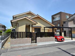 桧の香りに包まれる家: 株式会社菅野企画設計が手掛けた木造住宅です。,