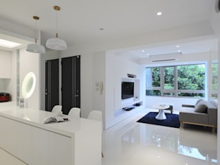 Salon moderne par 瓦悅設計有限公司 Moderne