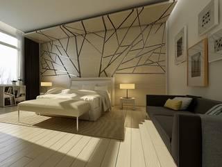 Mẫu phòng ngủ có thiết kế đẹp độc đáo Phòng ngủ phong cách hiện đại bởi Thương hiệu Nội Thất Hoàn Mỹ Hiện đại