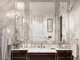 Современная классика в загородном доме: Ванные комнаты в . Автор – Duplex Apartment Интерьерные решения,