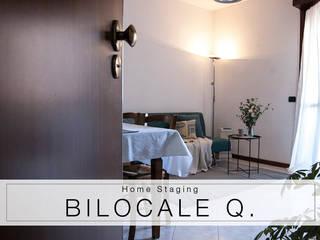 HOME STAGING Bilocale Q Soggiorno moderno di MINIMAL | Laboratorio d'Interni Moderno
