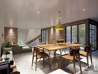 CASA BERNESE: Comedores de estilo  por SUR arquitectura