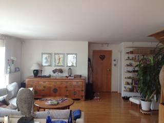 Réaménagement d'entrée Salon minimaliste par Studio ACD Minimaliste