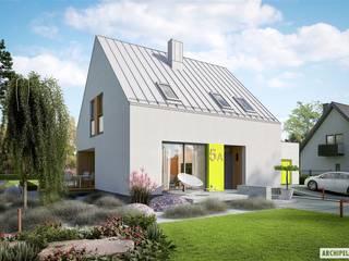 Minimalistische Häuser von Pracownia Projektowa ARCHIPELAG Minimalistisch
