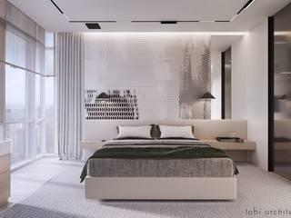 WHITE BREATH Tobi Architects Minimalist bedroom