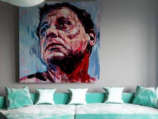 Minimal living aera: minimalistic Living room by Fibi Interiors