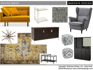 Wohnzimmer:   von Makhaya Design