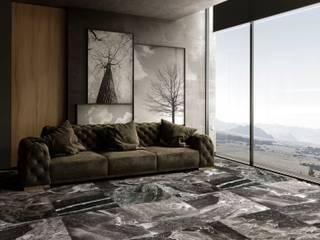 Silver Fantasy Marble | Hurok Marble Modern Oturma Odası Hurok Marble Modern