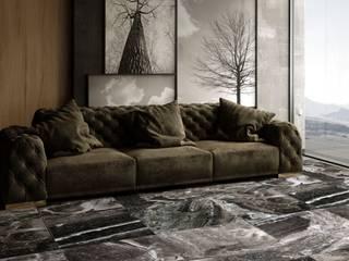 Silver Fantasy Marble | Hurok Marble Modern Çalışma Odası Hurok Marble Modern