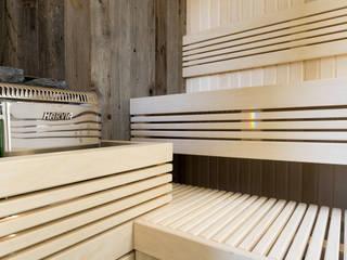 Cleopatra saunabank:  Badkamer door Cleopatra BV