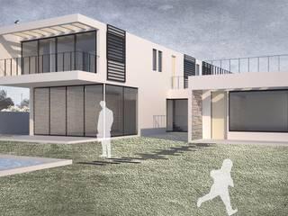 Casa Chamisero: Casas unifamiliares de estilo  por BMAA