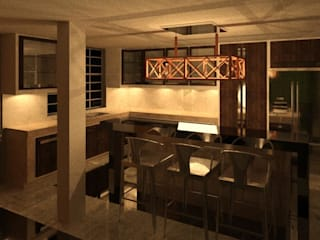 REMODELACION DE VIVIENDA. ESTUDIO KULUMAK Cocinas de estilo ecléctico Cerámico