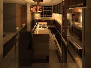 REMODELACION DE VIVIENDA. Cocinas de estilo ecléctico de ESTUDIO KULUMAK Ecléctico