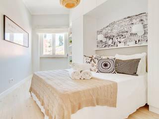 Apartamento da Alegria: Quartos  por Homestories,Escandinavo