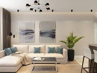 ДизайнМастер 现代客厅設計點子、靈感 & 圖片 Beige