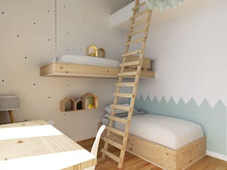 Nursery/kid's room by Homestories, Scandinavian