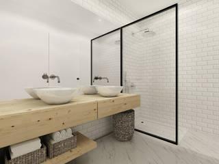 A Casa da Sara e do Tomás Casas de banho escandinavas por Homestories Escandinavo