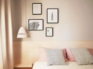 Scandinavian style bedroom by Homestories Scandinavian