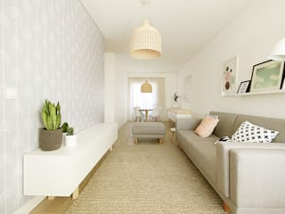 Scandinavian style living room by Homestories Scandinavian