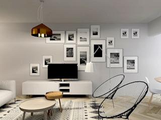 Living room by Homestories, Scandinavian