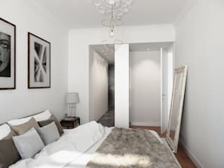 Suite: Quartos modernos por Neves & Ferrão