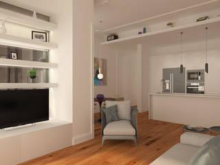 Sala/Cozinha: Cozinhas modernas por Neves & Ferrão