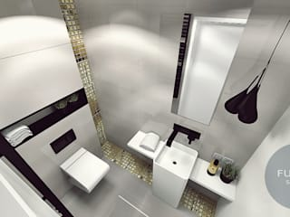 Łazienka Nowoczesna łazienka od Fusion- projektowanie i aranżacja wnetrz Nowoczesny