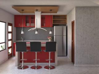 Cocina: Cocinas equipadas de estilo  por Eutopia Arquitectura