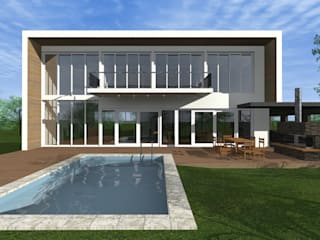 Modern Houses by JVG Arquitectura Modern