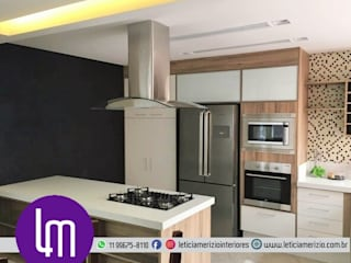 Portfólio Leticia Merizio Interiores: Cozinhas  por Merizio & Biserra Interiores Ltda