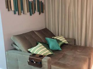 Portfólio Leticia Merizio Interiores: Salas de estar  por Merizio & Biserra Interiores Ltda