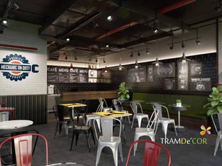 Thiết kế quán cafe:  Cầu thang by Công ty Thiết kế Nội Thất Tramdecor