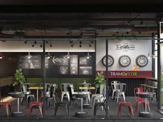 Thiết kế quán cafe bởi Công ty Thiết kế Nội Thất Tramdecor Công nghiệp
