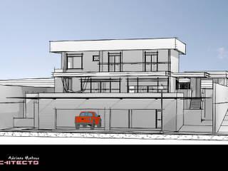 Garajes y galpones de estilo moderno de Arquitetura M - Arquitetura e Engenharia Moderno