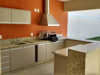 Área Gourmet: Armários e bancadas de cozinha  por Seu Projeto Arquitetura,Moderno