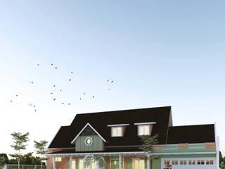 CASA.ID ARCHITECTS Single family home Engineered Wood Beige