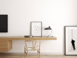Warszawa | Wola I: styl , w kategorii Domowe biuro i gabinet zaprojektowany przez Marta Wypych | pracownia projektowa,