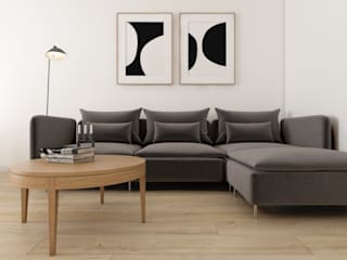 Warszawa | Wola I: styl , w kategorii Salon zaprojektowany przez Marta Wypych | pracownia projektowa,