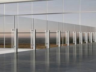 Ringhiere e Balaustra in acciaio e vetro per interni ed esterni: Scale in stile  di cfnonsoloscale