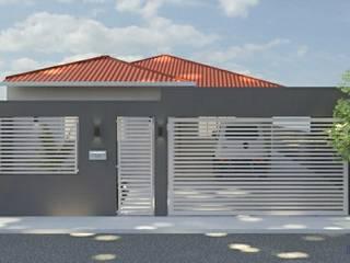 Reforma de fachada residencial por Daniela Ponsoni Arquitetura Moderno