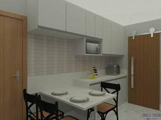 Design de interiores residência A.L. por Daniela Ponsoni Arquitetura Eclético
