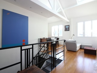 Duplex Paris 14 Salon original par FABRIQUE D'ESPACE Éclectique