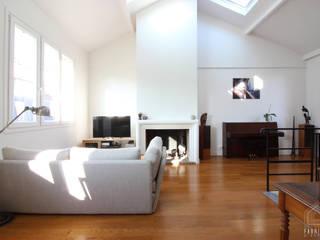 Duplex Paris 14 Salon minimaliste par FABRIQUE D'ESPACE Minimaliste