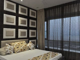 Premium apartments in Bhosale nagar Asian style bedroom by The Wood Works Club Asian