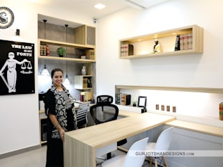 Modern OFFICE Interior Design by Gurjot Shan Designs
