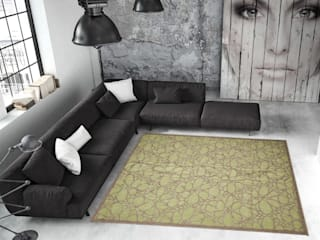 Tappeto CONTEMPORARY-FIORE-GREEN-:  in stile  di Webtappeti